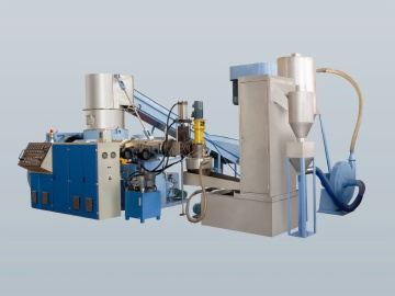 PE/PP Film Recycling & Pelletizing Line, water ring